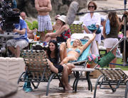 Busy Philipps in a bikini on the set of Cougar Town in Hawaii 01-03-2011 not HQ