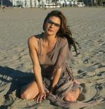 Paige Turco Beach Posing...