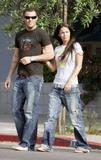 MEGAN FOX Groping her boyfriend @ a cafe on 5-18-06