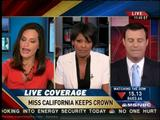 "TAMRON HALL and COURTNEY HAZLETT -- ""MSNBC News Live"" (May 12, 2009) - *leggy newsbabes*"