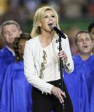 "*7 ADDS* Faith Hill performs ""America, the Beautiful"" prior to the start of Super Bowl XLIII - Febuary 1, 2009 - 14HQ"
